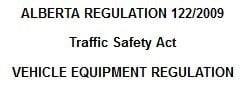 Alberta traffic safety act tinting regulation
