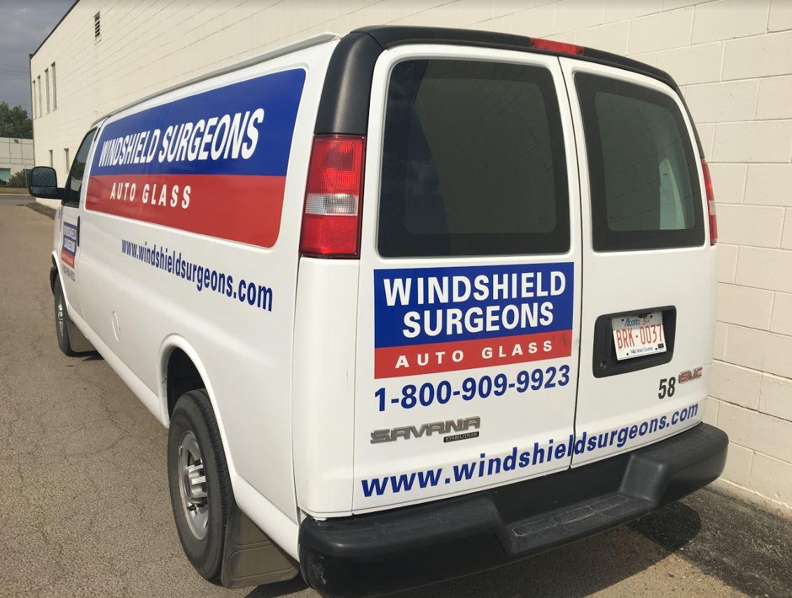 Auto Glass Delivery Van